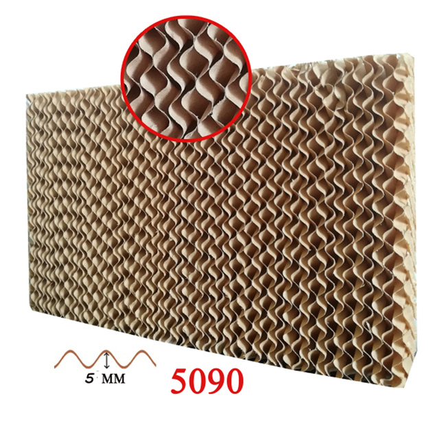 7090 Paper Cooling Greenhouse Corrugated Honey Comb Water Cooler Pad For Wholesale